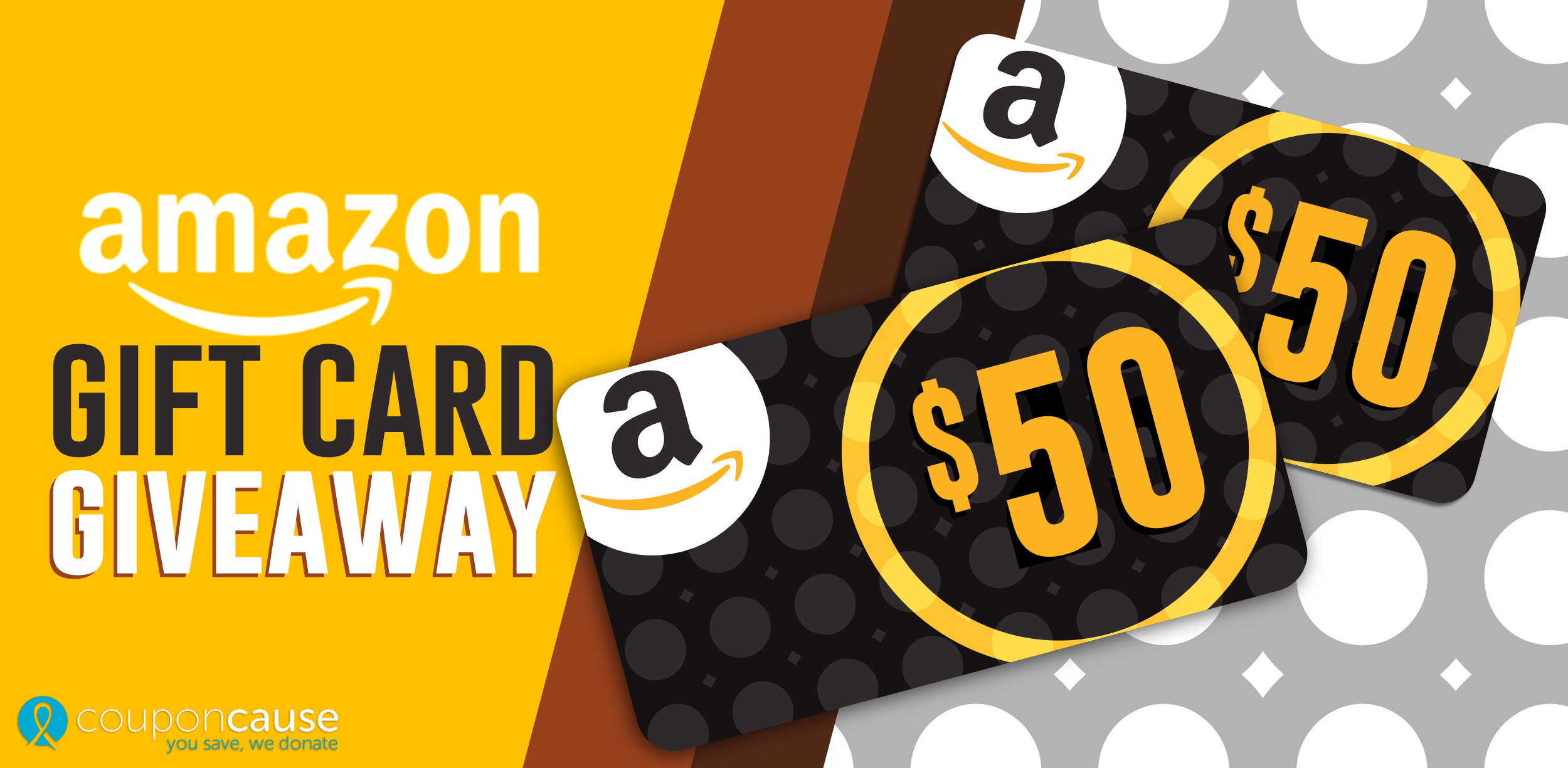 Amazon Gift Card Giveaway for Friends of CouponCause