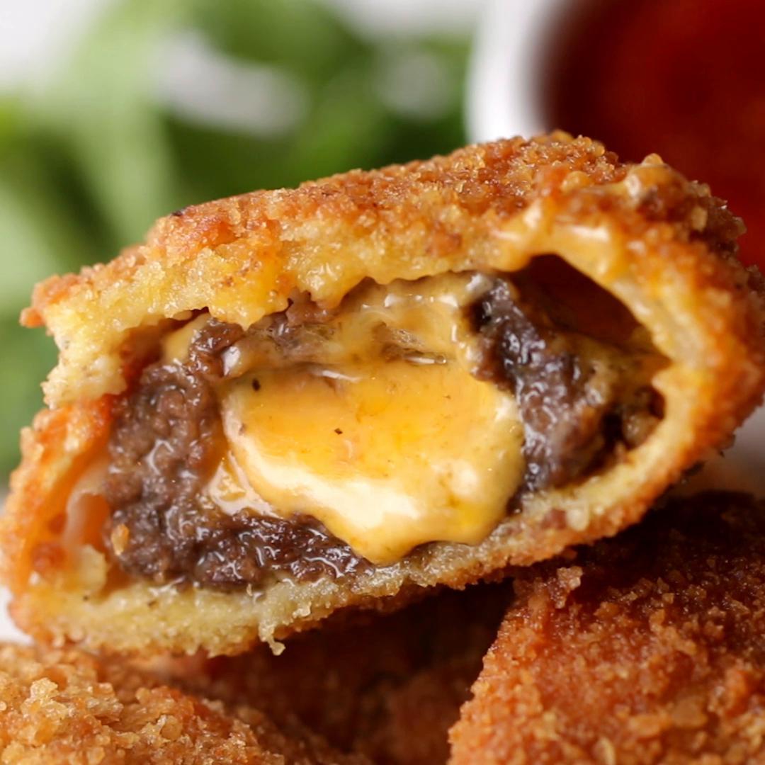 Cheeseburger Onion Rings